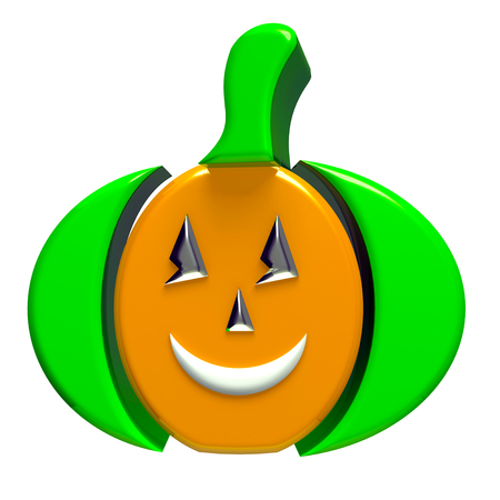 fall images: Pumpkin 3d image background Stock Photo