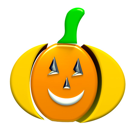 Pumpkin 3d image symbol photo