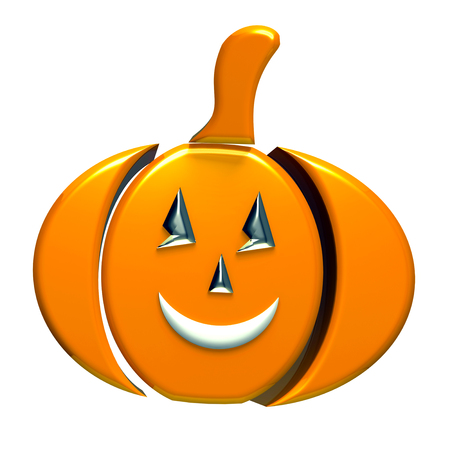 fall images: Pumpkin 3d image icon Stock Photo