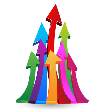 Business Arrows growing up Vector