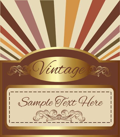Vintage golden background with space for your text.  Artwork vector design Vector