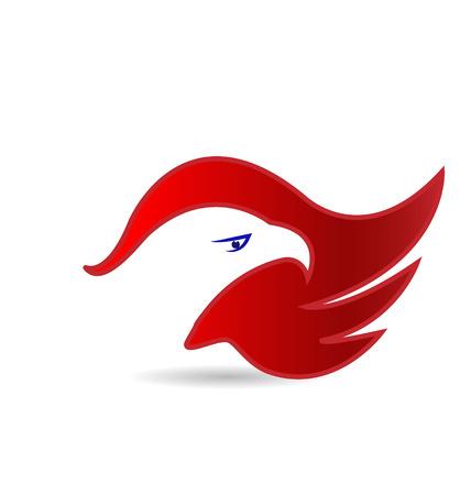 adler silhouette: Adler Gesicht amerikanisches Symbol Vektor-Icon- Illustration