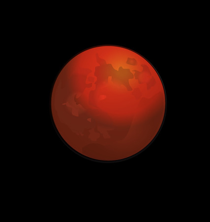 vector images: Red full moon vector logo web  background Illustration