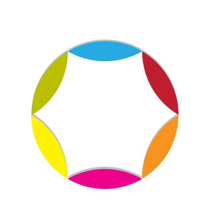 Leafs shape colorful logo icon vector Vector