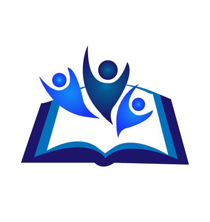Libro El trabajo en equipo de diseño de iconos de vectores