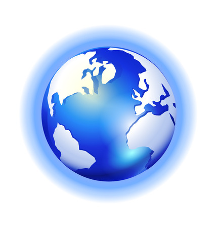 nebulous: Globe Map icon on a white background