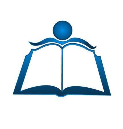 leggere libro: Prenota illustrazione icona del design template vettoriale logo