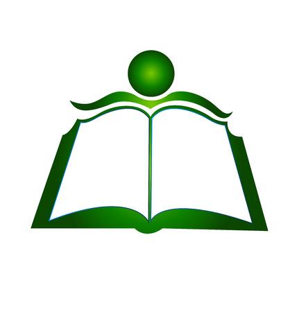 educativo: Ilustración libro icono de diseño de la plantilla vector logo Vectores
