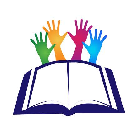 Boek onderwijs concept pictogram sjabloon vector design