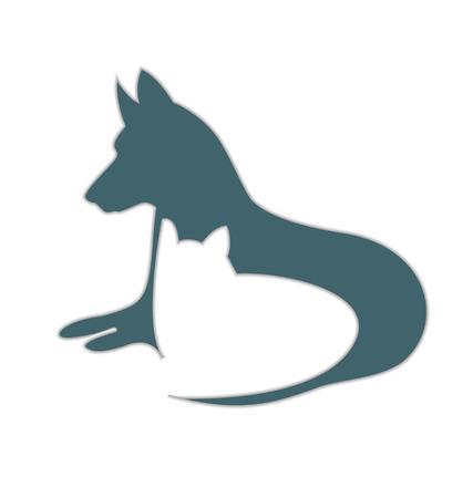 doberman: Katzen-und Hundefellen Illustration