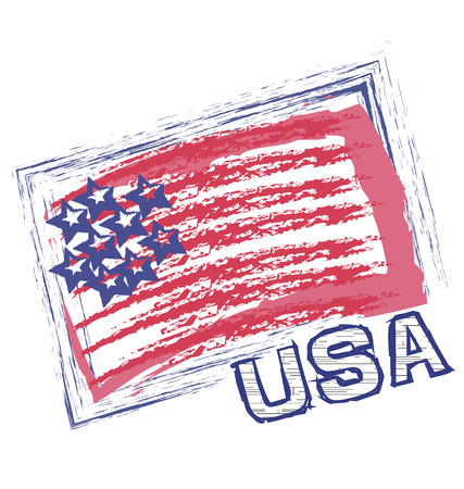 USA grunge flag vector icon Vector