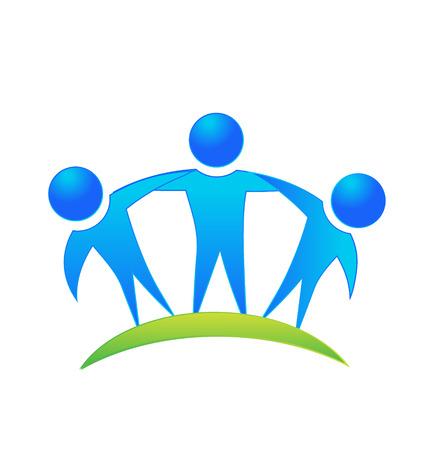 Icona di vettore di concetto di affari persone di lavoro di squadra Archivio Fotografico - 34438926