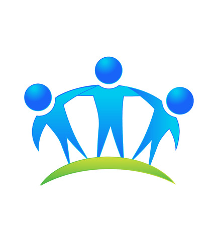 Teamwork people business concept vector icon Vector