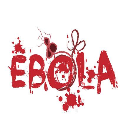 spatter: Ebola virus graphic text vector icon design