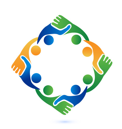 Handshake people in business vector icon Vector