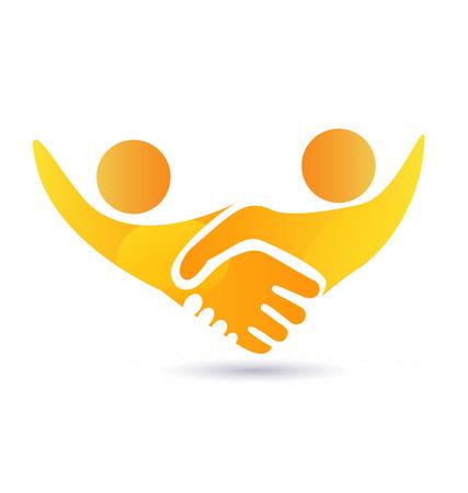 Handshake people business concept vector icon