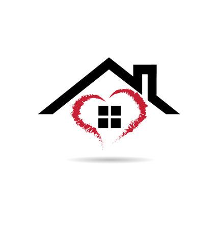 corazones azules: House y el coraz�n de vectores icono del dise�o del grunge plantilla