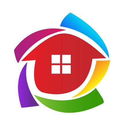 logotipo de construccion: Casa del icono del vector plantilla de diseño Vectores