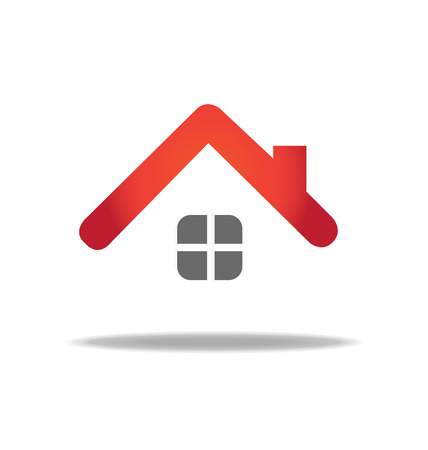 modern house: House vector icon design template