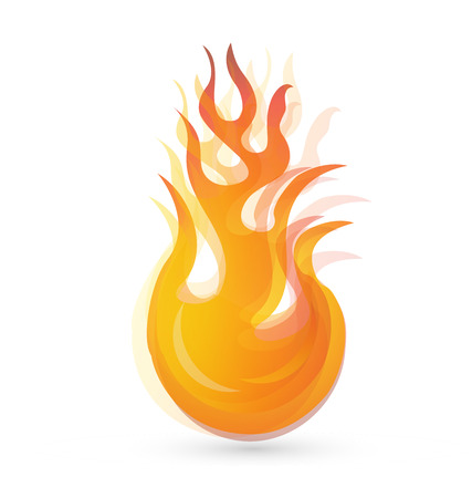 Fire flames vector background icon Stock Vector - 34826293