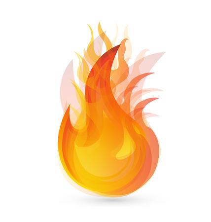 resplandor: Llamas del fuego icono del vector del fondo Vectores