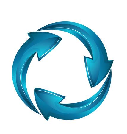 refrescarse: Vector de flechas símbolo tarjeta de negocios para icono de la tarjeta de identidad