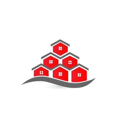 Real estate business card-Houses vector icon Vector