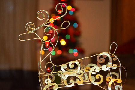 Christmas deer background photo