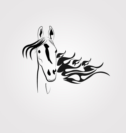 Horse frame vector design