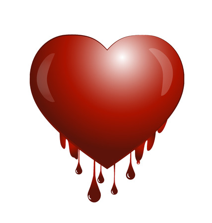 suffered: Suffered blooding heart of love