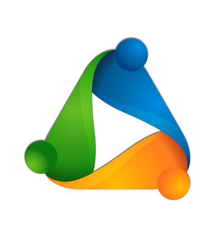 Trabajo en equipo conociendo gente icono del diseño icono de vector de plantilla Foto de archivo - 34980751
