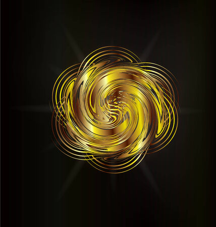 Abstract golden rose creative graphic design background  Ilustracja