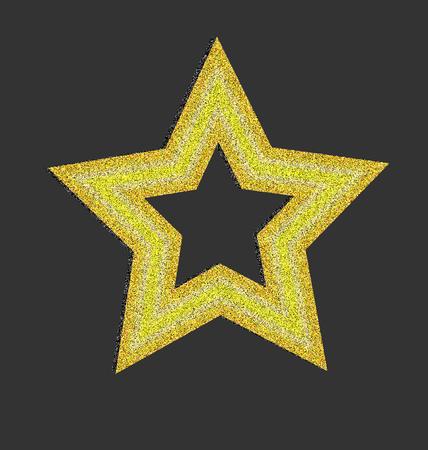 Gold star background