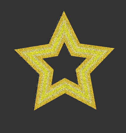 Gold star background Vector