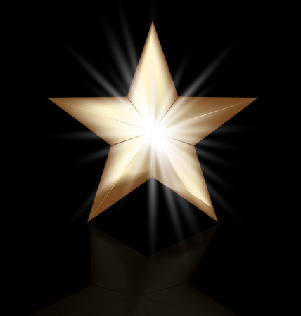 Gold star vector image background Vector