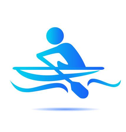 Kayak sport icon vector illustration