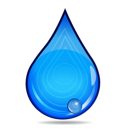 illustration line art: Drop of Water vector icon