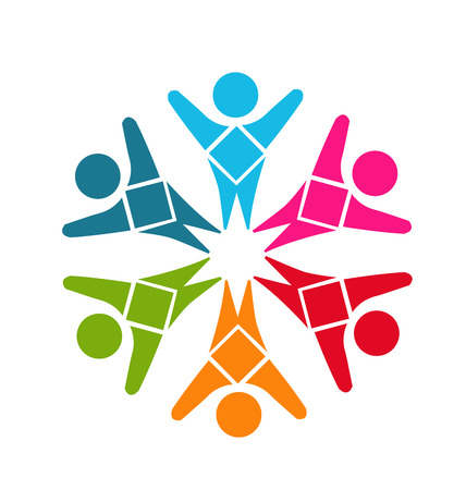 textile care symbol: Teamwork diversity people identity business card design template icon vector