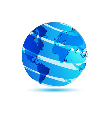 world map blue: World globe map Illustration