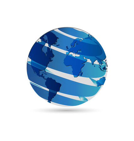 international internet: World globe map vector icon