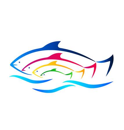 peces: Peces de colores y tarjeta de visita identidad mar