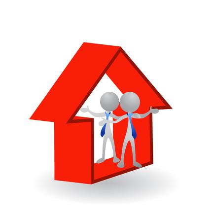 cerrando negocio: Casa - Real Estate concepto de imagen de cierre de un icono de negocio exitoso