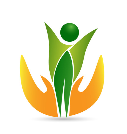 leaf logo: Health care life icon