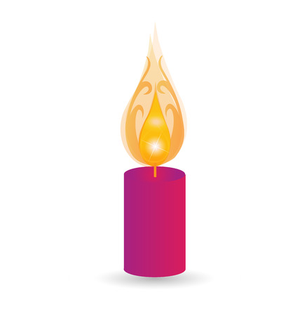 swirly: Candle swirly flames vector icon