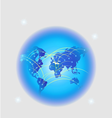 World trade web network connection background Vector