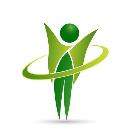 manos logo: Icono de la vida sana