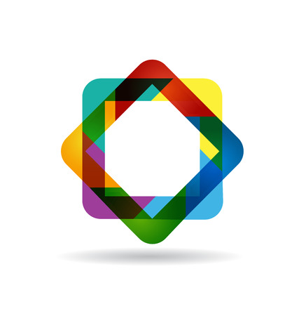 recycle logo: Abstract business identity card vector icon Illustration