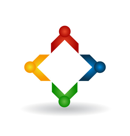 care: Teamwork people business concept vector icon