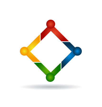 diverse business team: Teamwork people business concept vector icon