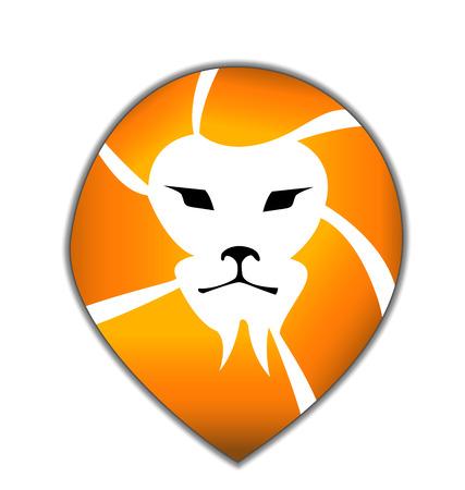 sports application: Lion head silhouette vector icon